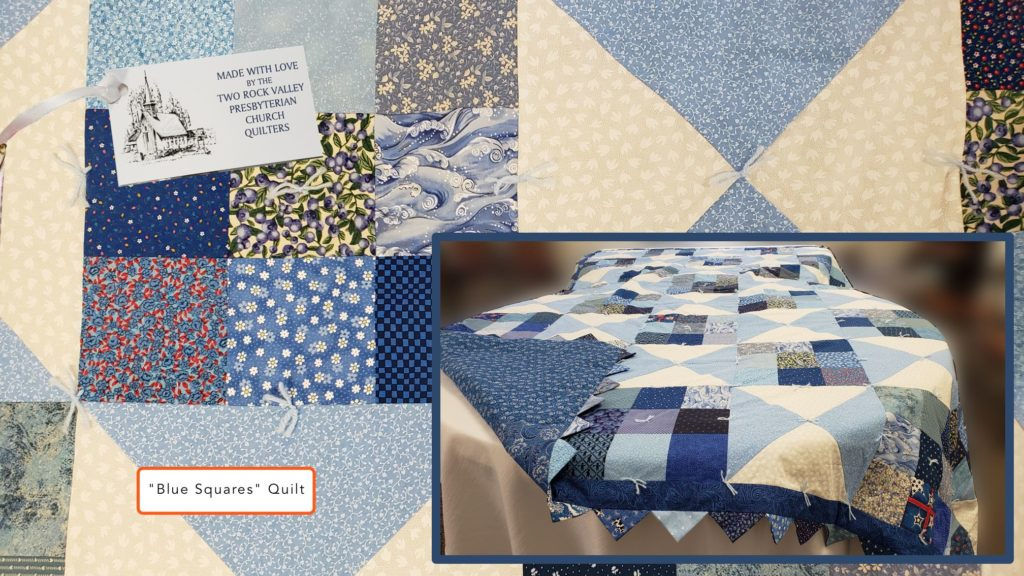 Two Rock Quilters produce beautiful quilts to donate to those in need and to sell for church funding.
