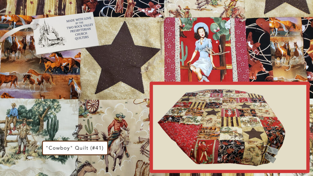 Two Rock Cowboy quilt