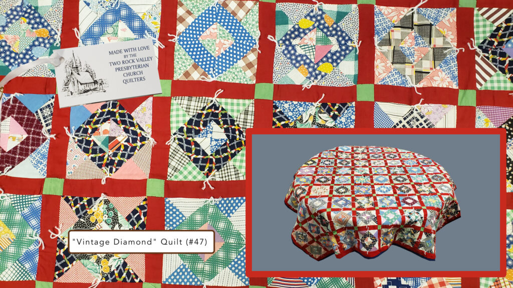 Vintage quilt Two Rock Church